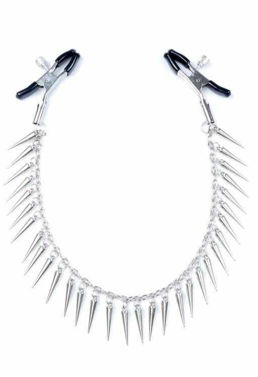 Metalowe Klamerki na Sutki ze Srebrnymi Soplami 100% DYSKRECJI BEZPIECZNE ZAKUPY