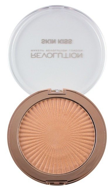 Makeup Revolution Skin Kiss Rose Gold Kiss Highlighter Rozświetlacz do twarzy 14g - Rose Gold Kiss