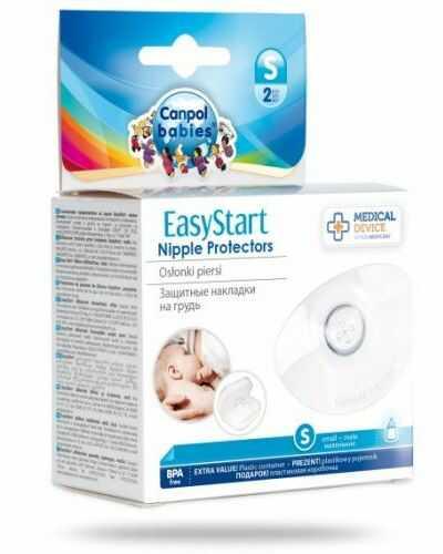 Canpol Babies EasyStart silikonowe osłonki na piersi rozmiar S 2 sztuki [18/602]