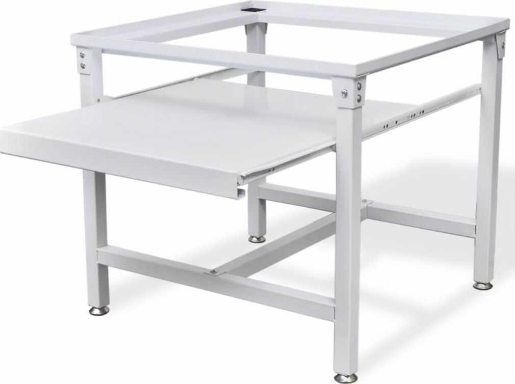 vidaXL VidaXL Podest pod pralkę z półką w białym kolorze