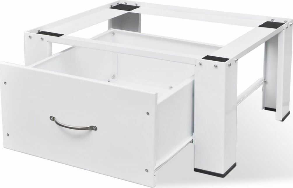 vidaXL VidaXL Podest pod pralkę z szufladą biały