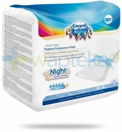 Canpol Babies Ultra Night chłonne oddychające podkłady poporodowe na noc 10 sztuk [78/001]