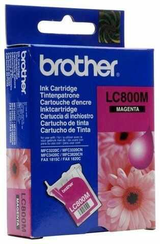Wyprzedaż Oryginał Tusz Brother LC-800M do Brother Fax-1815C Fax-1820C MFC3220C MFC3320C MFC3320CN MFC3420C MFC3820CN 400 str. magenta, pudełko zastępcze, oryginalny airbag/folia
