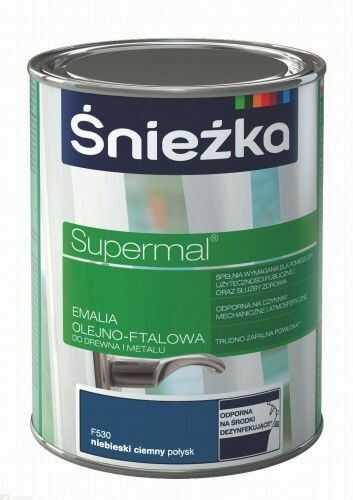 ŚNIEŻKA SUPERMAL Emalia olejno-ftalowa niebieski ciemny połysk F530 0,2L
