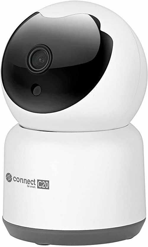 Kamera Wi-Fi wewnętrzna Kruger&Matz Connect C20 Tuya, rozrdzielczość 1080 p, mikrofon, głośnik, detekcja ruchu, aplikacja, biała