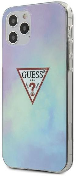 "Guess GUHCP12MPCUMCGC02 iPhone 12/12 Pro 6,1"" niebieski/blue hardcase Tie & Die Collection"
