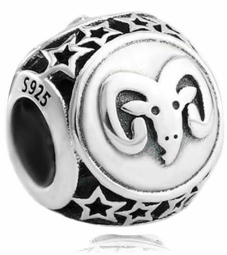 Rodowany srebrny charms do pandora znak zodiaku baran srebro 925 BEAD24