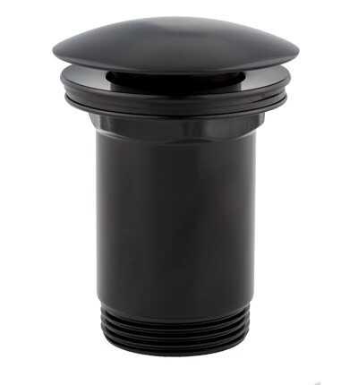 Omnires korek klik-klak do syfonu umywalkowego czarny mat A706BL