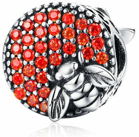 Rodowany srebrny charms pandora pszczoła pszczółka miód bee cyrkonie srebro 925 BEAD166