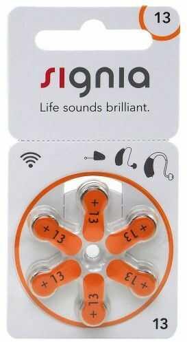 6 x baterie do aparatów słuchowych Signia 13