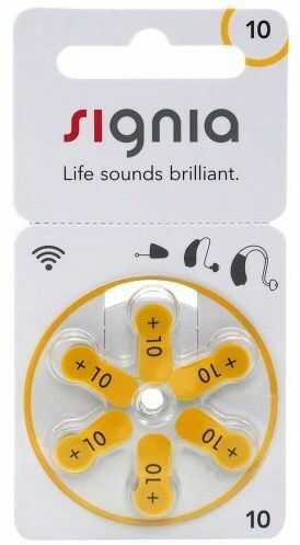 6 x baterie do aparatów słuchowych Signia 10