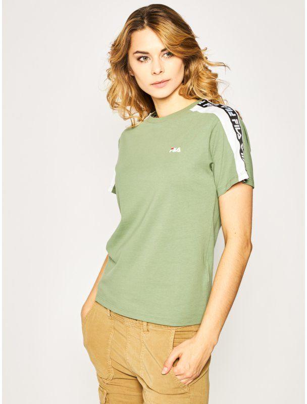 Fila T-Shirt Tandy Tee 687686 Zielony Regular Fit