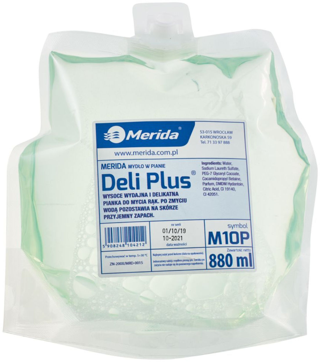 Mydło piana 880ml Deli Plus Merida M10P