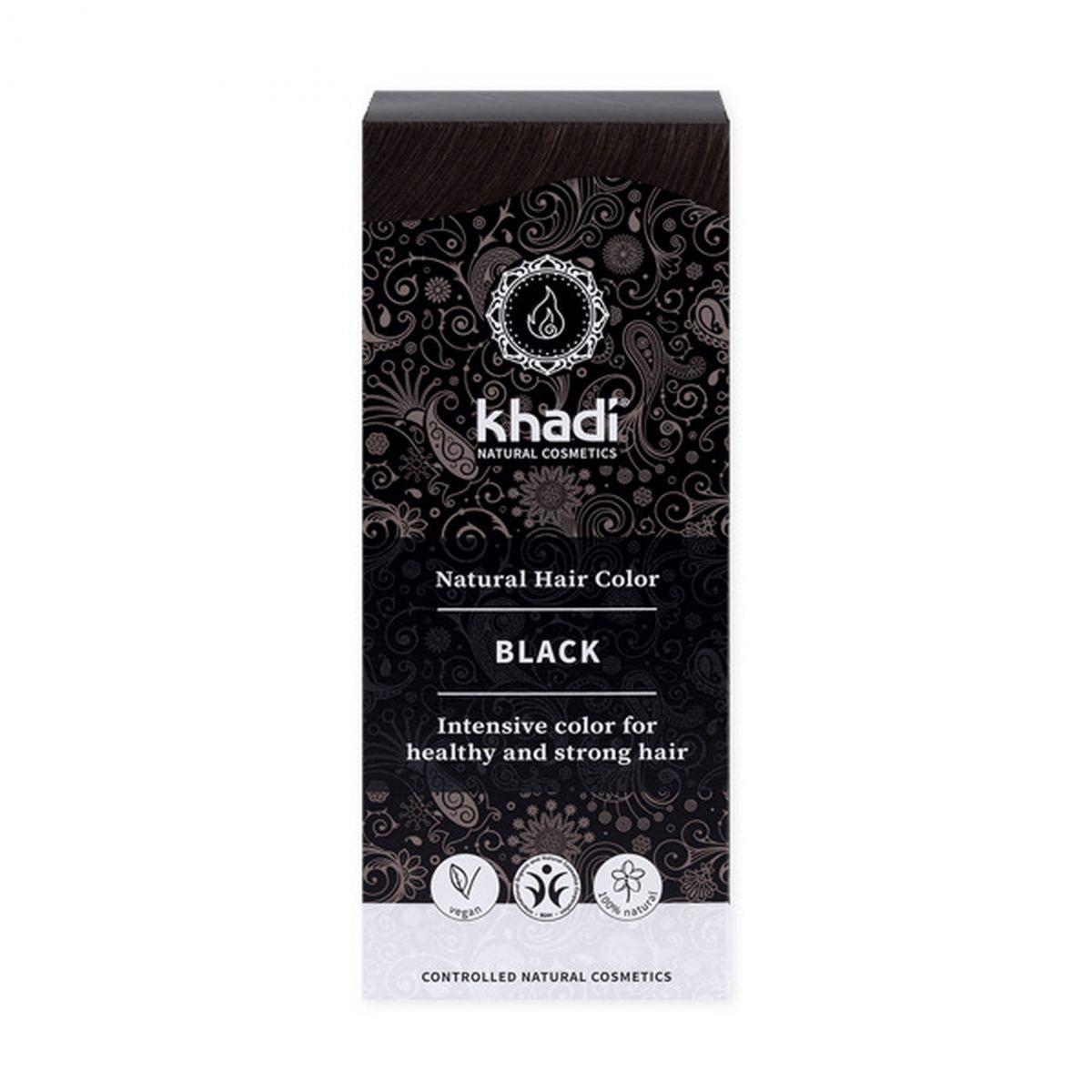 Naturalna indyjska henna - czarna - 100g - Khadi