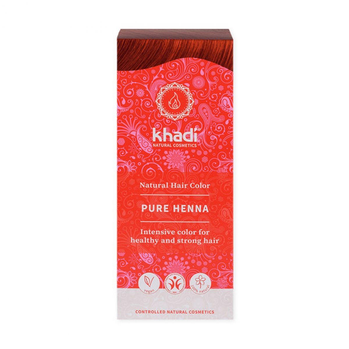 Naturalna indyjska henna - naturalna czerwona (ruda) - 100g - Khadi