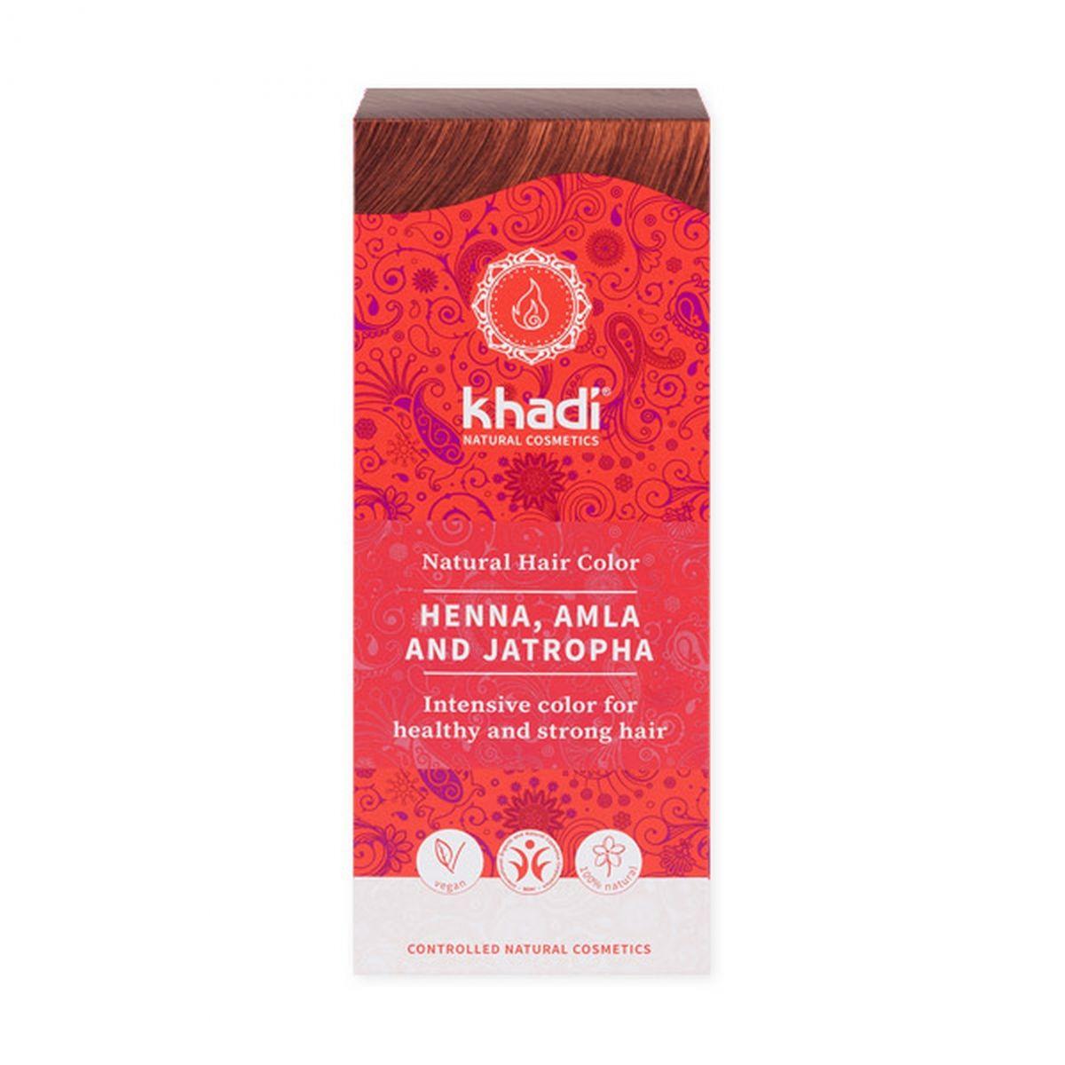 Naturalna indyjska henna - amlą i jatrophą - 100g - Khadi
