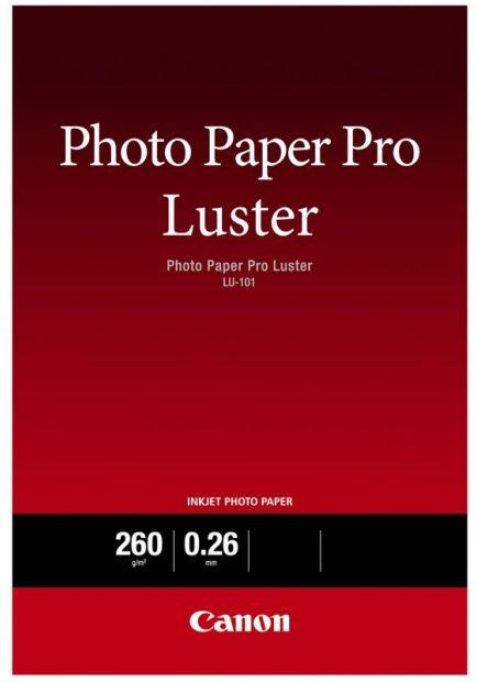 Papier CANON Pro Luster Photo LU-101 260 g/m2 - A4, 20 arkuszy (6211B006)