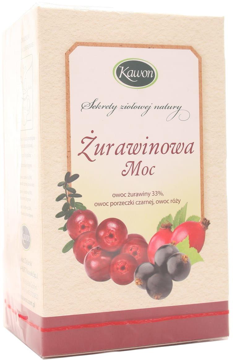 Herbata Żurawinowa Moc - Kawon - 20 saszetek
