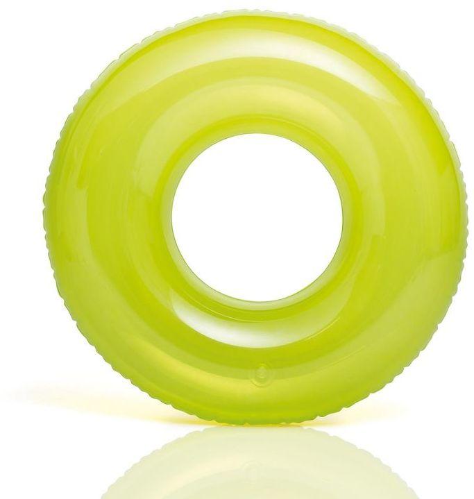 Koło do pływania TRANSPARENT zielone Intex 59260