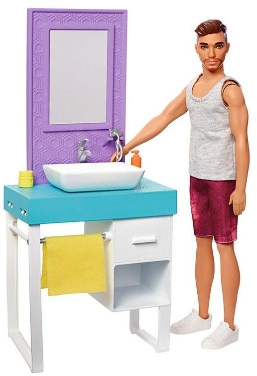 Barbie - Ken Domowe zajęcia zestaw łazienka FYK53