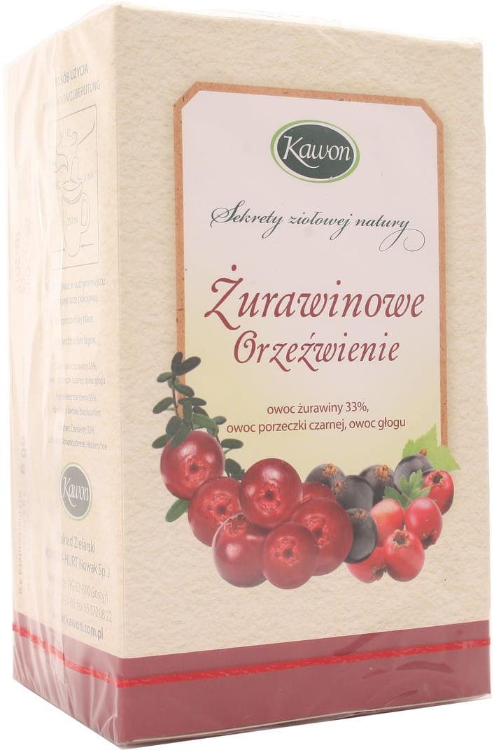Herbata Żurawinowe orzeźwienie - Kawon - 20 saszetek