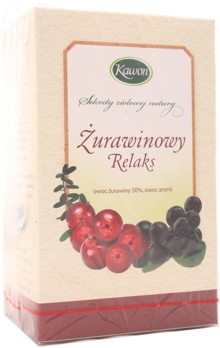 Herbata Żurawinowy relaks - Kawon - 20 saszetek