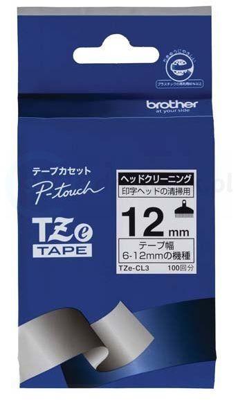 Oryginalna taśma czyszcząca Brother TZe-CL3 12mm x 8m
