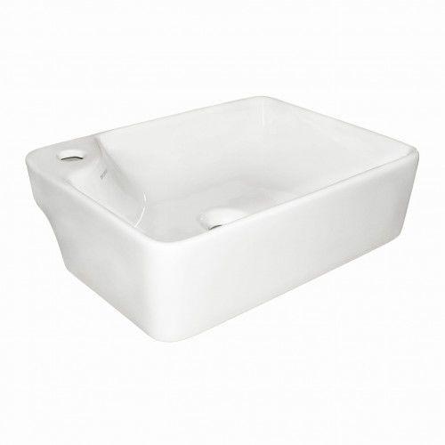 Mała umywalka 44x12,5 cm nablatowa ceramiczna
