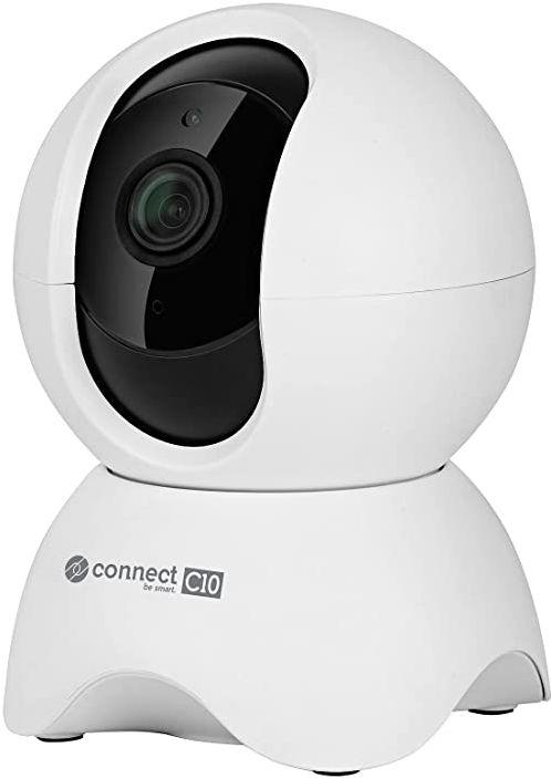 Kamera Wi-Fi wewnętrzna Kruger&Matz Connect C10 Tuya, rozrdzielczość 720 p, mikrofon, głośnik, detekcja ruchu, aplikacja, biała