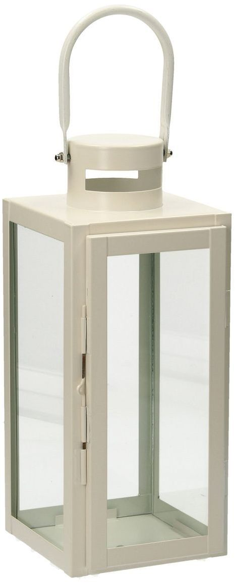 Lampion Metalowy Elegance White 40 cm, 13  13  40 cm