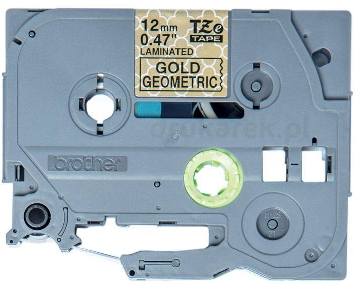 Oryginalna taśma Brother TZe-MPGG31 12mm x 4m złota/czarny nadruk