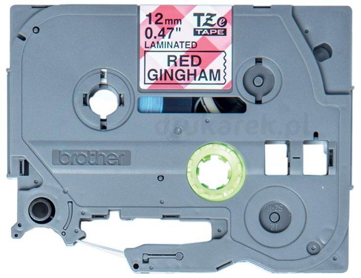 Oryginalna taśma Brother TZe-MPRG31 12mm x 4m biała/czarny nadruk