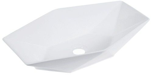 Umywalka nablatowa 57,7x36,5x12,5 cm ceramiczna, biała GLAMUR STYL