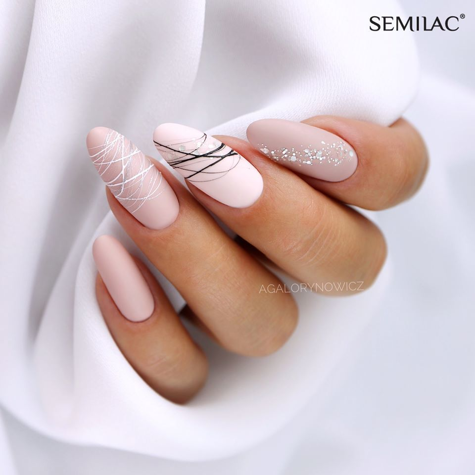 SEMILAC 159 Yasmin Kiss UV LED Lakier Hybrydowy 7ml