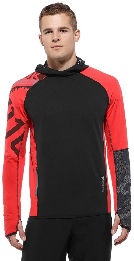 Bluza Reebok Z81745 treningowa XS czarno-czerwona