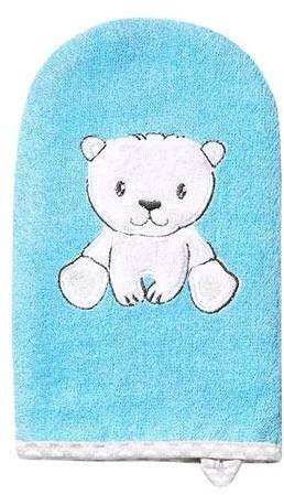 Babyono myjka bambusowa dla dzieci i niemowląt niebieska 1 sztuka [347/02]