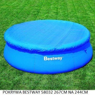 Pokrywa Bestway 58032 244 cm kołnierz