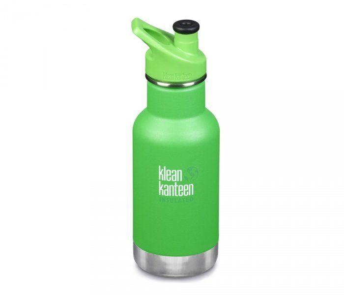 Butelka termiczna Klean Kanteen KID Classic 355 ml z nakrętką Sport Cap 3.0 (lizard tails) zielony