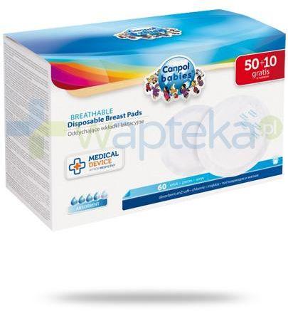 Canpol Babies Standard oddychające wkładki laktacyjne 50 + 10 sztuk [1/652_med]