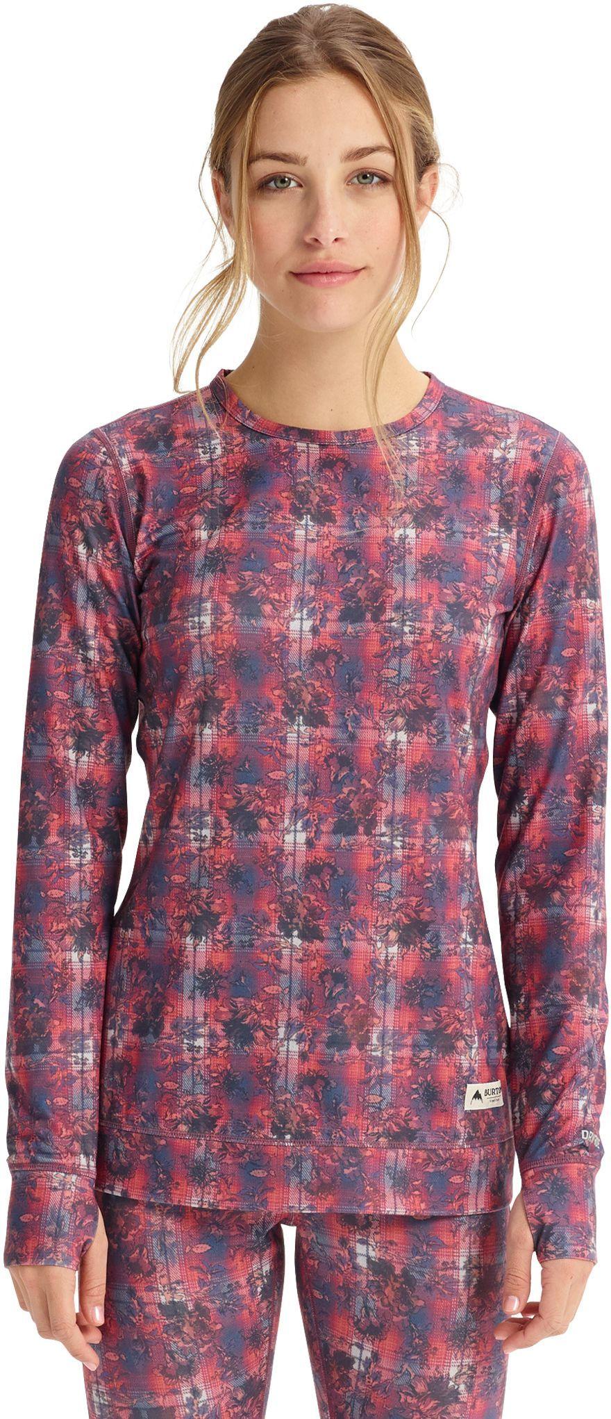 bielizna termoaktywna damska - bluza BURTON MIDWEIGHT CREW Nevermind Floral