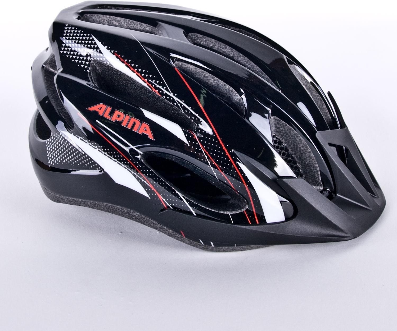 ALPINA MTB17 kask rowerowy czarno-biało-czerwony Rozmiar: 58-61,alpina-mtb17-black-white-red