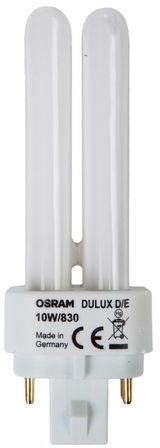 Świetlówka kompaktowa G24q-1 (4-pin) 10W 3000K DULUX D/E 4050300419435