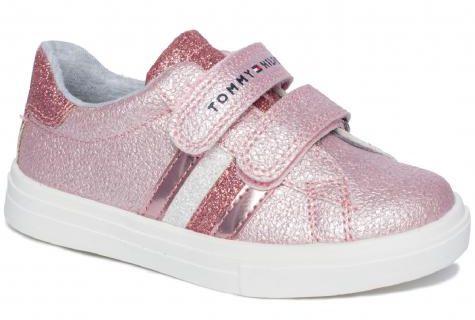 Tommy Hilfiger 0891302 sneakersy półbuty trampki trzewiki dziewczęce różowe- brokat