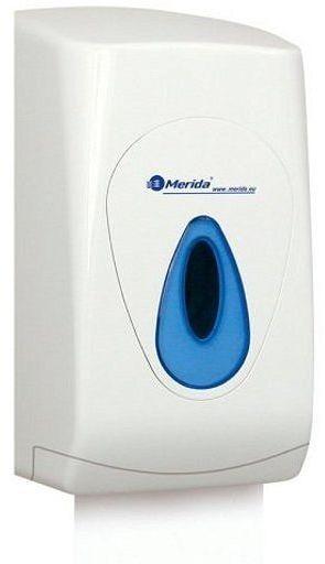 Pojemnik na papier toaletowy w listkach Merida Top, okienko niebieskie