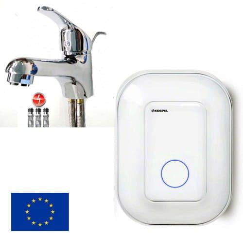 KOSPEL pojemnościowy podgrzewaczwody POC. Luna inox D-10 podumuwalkowy +bateria umywalkowa