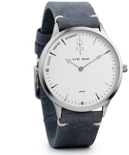 Zegarek KING HOON na pasku - biała tarcza