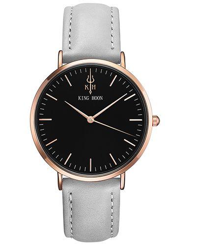 Damski zegarek KING HOON czarno-złoto-szary
