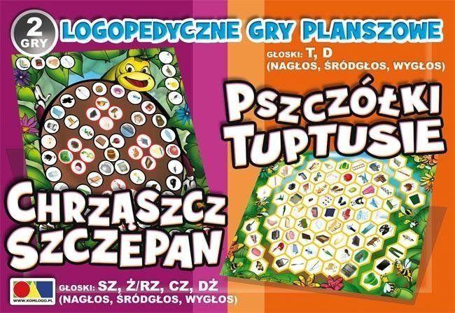 2 gry Chrząszcz Szczepan /Pszczółki Tuptusie - KOMLOGO