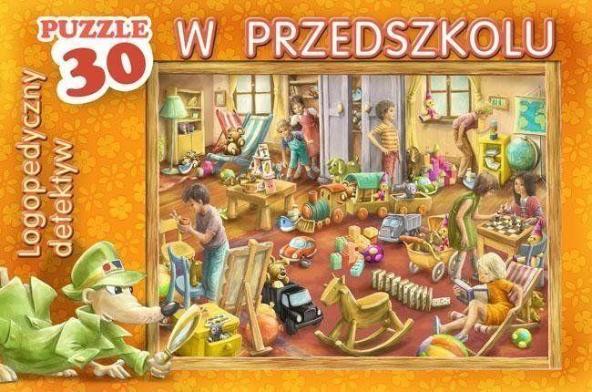 Logopedyczny detektyw w przedszkolu - puzzle - KOMLOGO