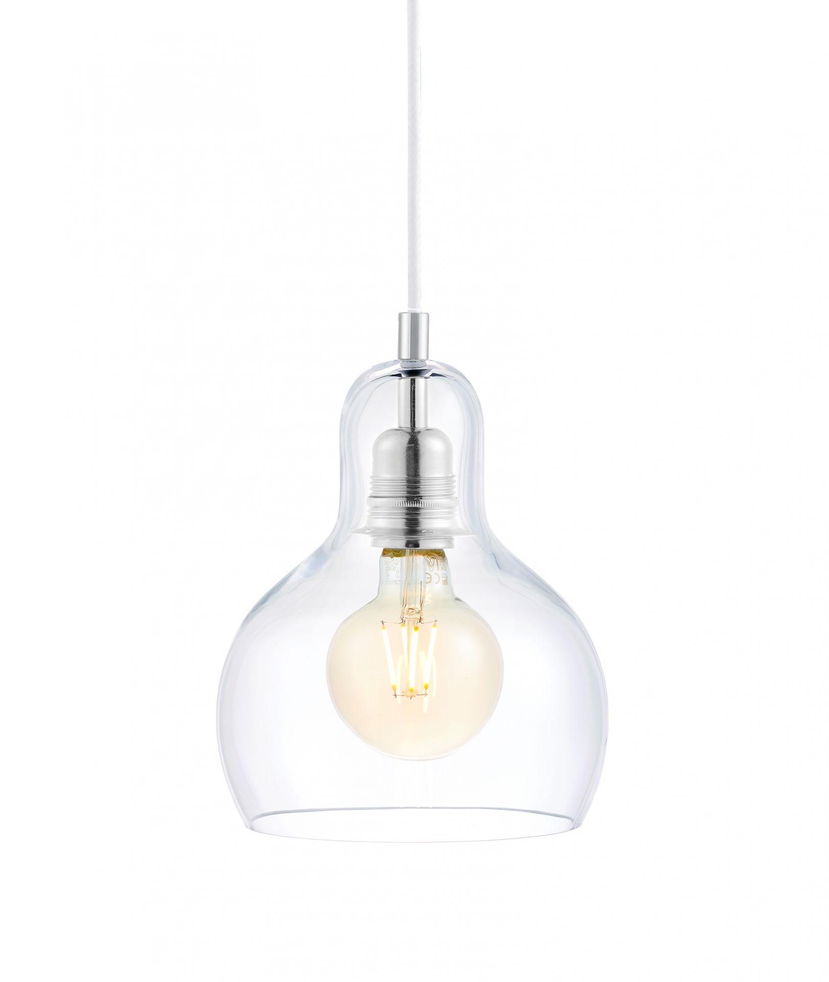 Lampa wisząca Longis I 10122109 oprawa przezroczysta / przewód biały Kaspa